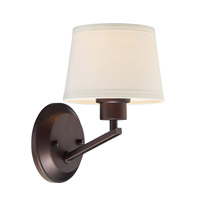 Studio 1 Light 7 inch Satin Bronze Wall Sconce Wall Light