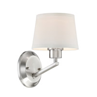 Studio 1 Light 7 inch Satin Platinum Wall Sconce Wall Light