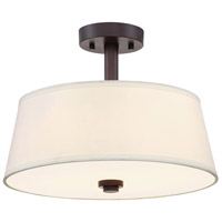 Studio 2 Light 60 Satin Bronze Semi-Flush Ceiling Light