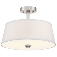 Studio 2 Light 60 Satin Platinum Semi-Flush Ceiling Light