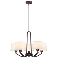 Studio 5 Light 26 inch Satin Bronze Chandelier Ceiling Light