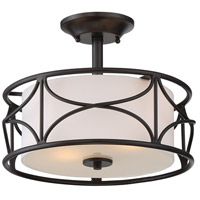 Avara 2 Light 100 Oil Rubbed Bronze Semi-Flush Ceiling Light