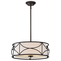 Avara 3 Light 100 Oil Rubbed Bronze Pendant Ceiling Light