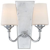 Lusso 2 Light 12 inch Chrome Wall Sconce Wall Light