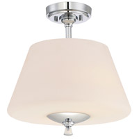 Lusso 2 Light 100 Chrome Semi-Flush Ceiling Light