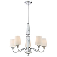 Lusso 5 Light 27 inch Chrome Chandelier Ceiling Light