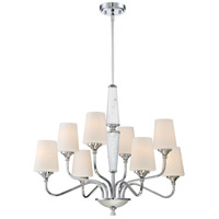 Designers Fountain 88788-CH Lusso 8 Light 31 inch Chrome Chandelier Ceiling Light