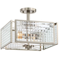 Pivot 2 Light 60 Satin Platinum Semi-Flush Ceiling Light