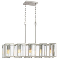 Pivot 5 Light 34 inch Satin Platinum Island Pendant Ceiling Light