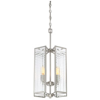 Designers Fountain Pivot 4 Light Foyer in Satin Platinum 88854-SP