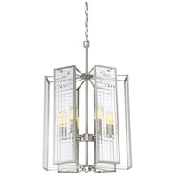 Designers Fountain Pivot 6 Light Foyer in Satin Platinum 88856-SP