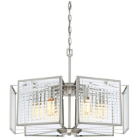 Pivot 6 Light 23 inch Satin Platinum Chandelier Ceiling Light