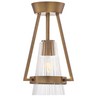 Montelena 1 Light 60 Old Satin Brass Semi-Flush Ceiling Light