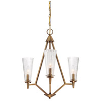 Montelena 3 Light 21 inch Old Satin Brass Chandelier Ceiling Light