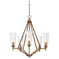 Montelena 5 Light 25 inch Old Satin Brass Chandelier Ceiling Light