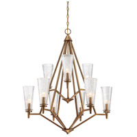 Montelena 9 Light 31 inch Old Satin Brass Chandelier Ceiling Light