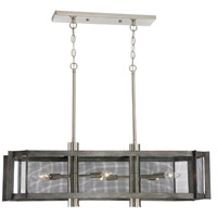 Baxter 6 Light 36 inch Weathered Iron Island Pendant Ceiling Light