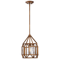 Athina 1 Light Gilded Bronze Pendant Ceiling Light