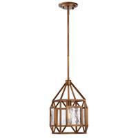 Designers Fountain 89430-GB Athina 1 Light Gilded Bronze Pendant Ceiling Light