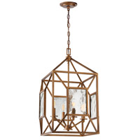 Athina 4 Light Gilded Bronze Pendant Ceiling Light