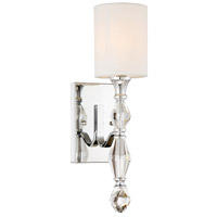 Evi 1 Light 7 inch Chrome Bath Sconce Wall Light
