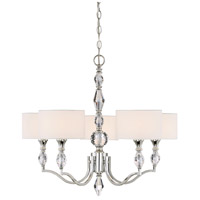 Evi 5 Light 27 inch Chrome Chandelier Ceiling Light