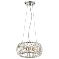 Allure 2 Light 12 inch Chrome Pendant Ceiling Light, Convertible to Semi-Flush