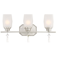 Brentwood 3 Light 20 inch Satin Platinum Bath Vanity Wall Light
