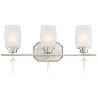 Designers Fountain 90103-SP Brentwood 3 Light 20 inch Satin Platinum Bath Vanity Wall Light
