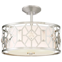 Brentwood 2 Light 16 inch Satin Platinum Semi-Flush Ceiling Light