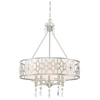 Brentwood 5 Light 25 inch Satin Platinum Chandelier Ceiling Light