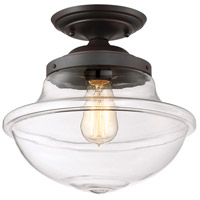 Foundry 1 Light 12 inch Satin Bronze Semi-Flush Ceiling Light