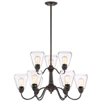 Designers Fountain 90289-SB Foundry 9 Light 31 inch Satin Bronze Chandelier Ceiling Light