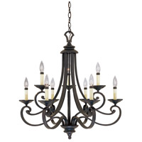 Barcelona 9 Light 28 inch Natural Iron Chandelier Ceiling Light