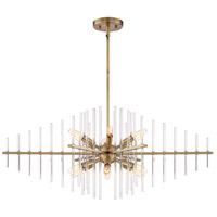 Reeve 12 Light 35 inch Burnished Antique Brass Island Pendant Ceiling Light
