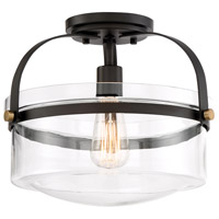 Jaxon 1 Light 13 inch Oil Rubbed Bronze Semi-Flush Mount Ceiling Light