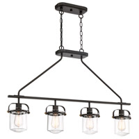 Jaxon 4 Light 36 inch Oil Rubbed Bronze Linear Chandelier Ceiling Light
