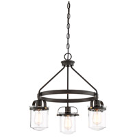 Designers Fountain 90683-ORB Jaxon 3 Light 21 inch Oil Rubbed Bronze Chandelier Ceiling Light