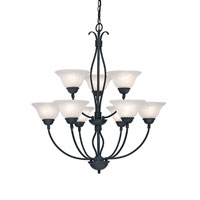 Designers Fountain Vista 9 Light Chandelier in Natural Iron 9079-NI thumb