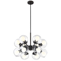 Meridian 12 Light 25 inch Satin Bronze Chandelier Ceiling Light