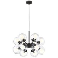 Designers Fountain 912812-SB Meridian 12 Light 25 inch Satin Bronze Chandelier Ceiling Light