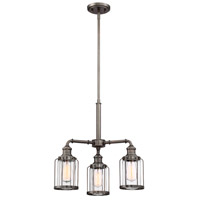 Designers Fountain 91383-SCB Anson 3 Light 20 inch Satin Copper Bronze Chandelier Ceiling Light