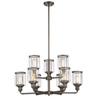Anson 9 Light 31 inch Satin Copper Bronze Chandelier Ceiling Light