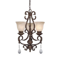 Designers Fountain San Mateo 3 Light Chandelier in Ancient Oak 91403-AO