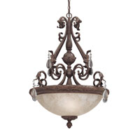 Designers Fountain San Mateo 3 Light Pendant in Ancient Oak 91405-AO