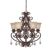 Designers Fountain San Mateo 6 Light Chandelier in Ancient Oak 91406-AO