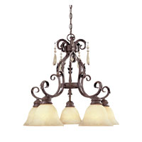 Designers Fountain San Mateo 5 Light Chandelier in Ancient Oak 91409-AO