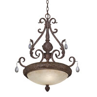 Designers Fountain San Mateo 3 Light Pendant in Ancient Oak 9145-AO