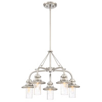 Dover 5 Light 26 inch Satin Platinum Chandelier Ceiling Light