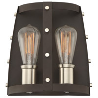 Designers Fountain 91602-RT Presidio 2 Light 10 inch Rustique Wall Sconce Wall Light